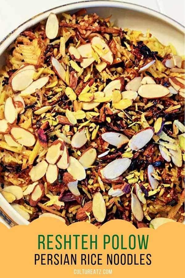 reshteh polow persian rice noodles