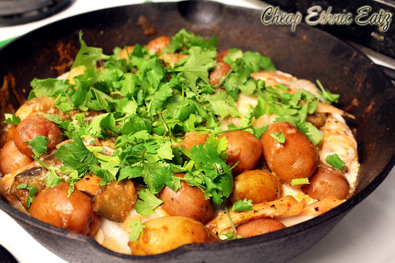 Smoky brazilian fish and potato stew moqueca for Fish stew with potatoes