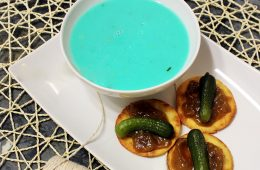 blue potato Leek Soup