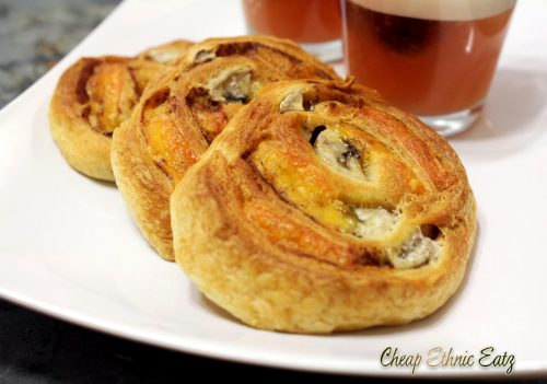 Banana Cheddar and Cinnamon Pinwheels