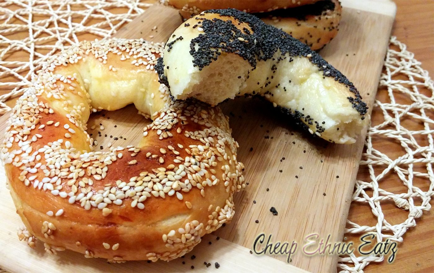 Montreal bagel poppy and sesame