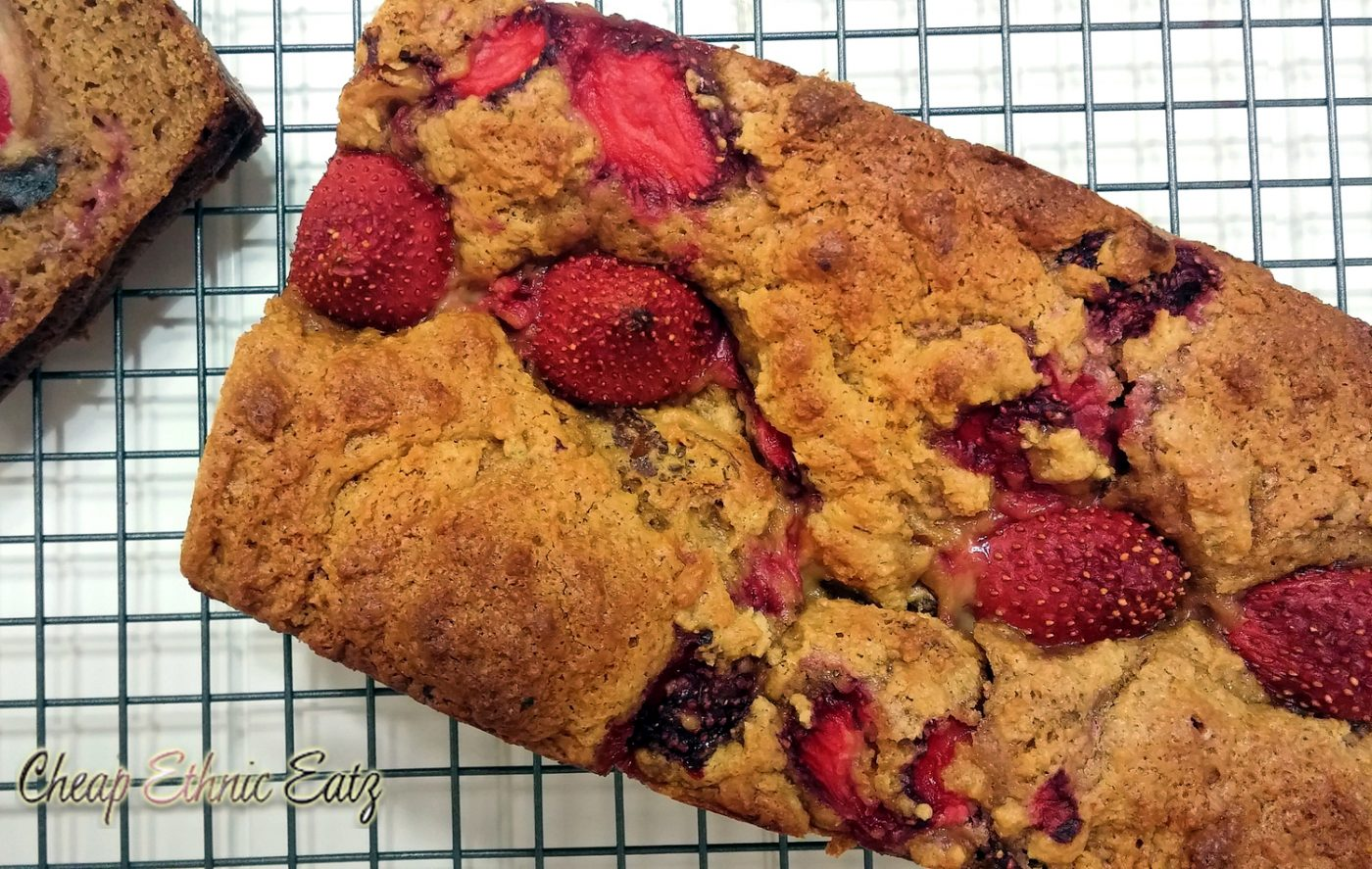 Strawberry and Date Malted Loaf