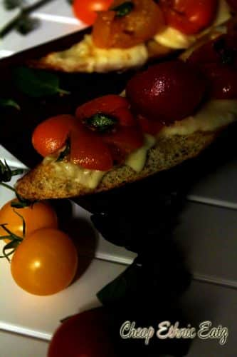 Squashed Tomatoes Baguette
