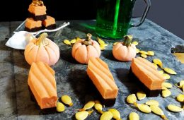 Peanut Butter Fudge and Ganache Tombstones