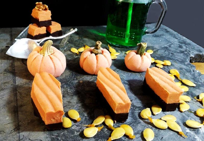 Peanut Butter Fudge and Ganache Tombstones Halloween Roundup