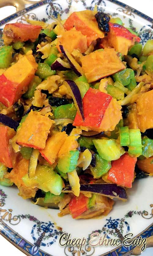 Roasted Kabocha Squash Salad with a Beer Vinaigrette close-up