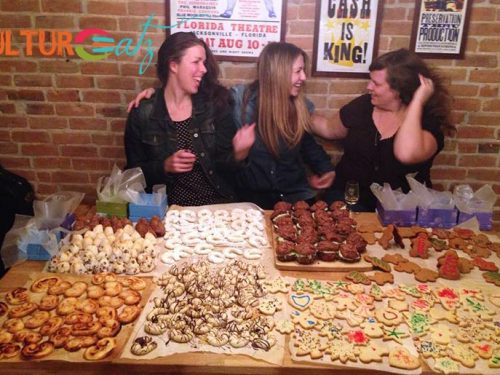 christmas cookies with friends