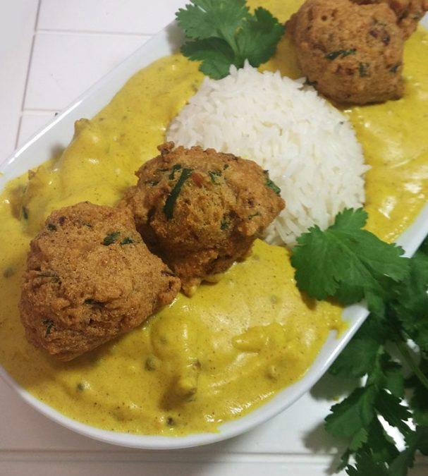 Kadhi Chawal (Yogurt Curry with Rice)