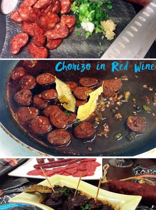 Chorizo in Red Wine Tapas