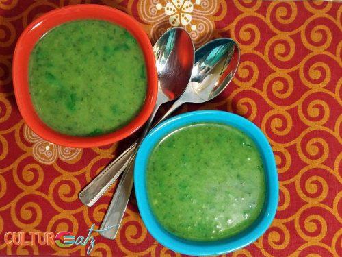 Parsley Cilantro soup top