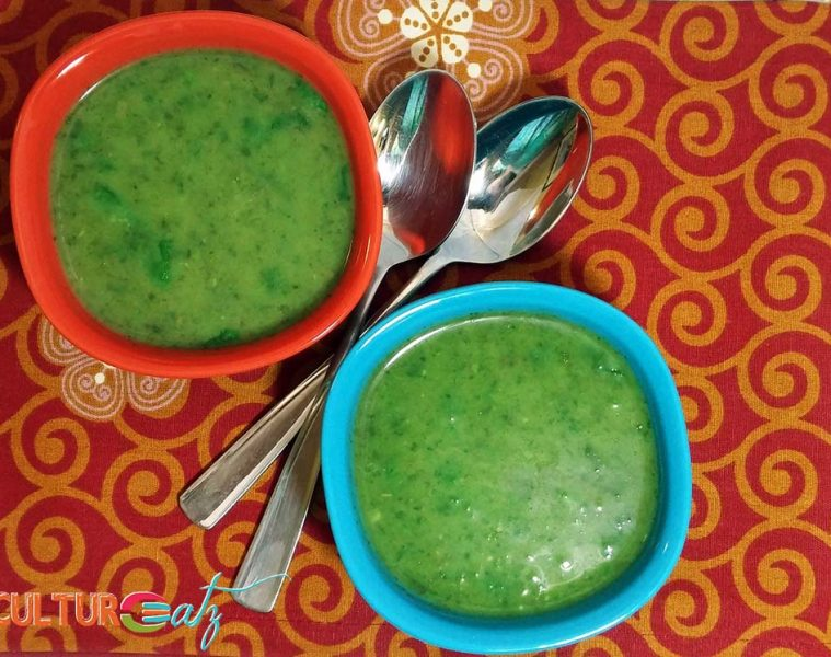 Parsley Cilantro soup top