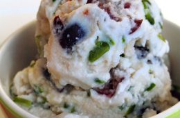Bourbon Cherry Pistachio Ice Cream