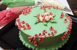 Cake decorating lily of the valley