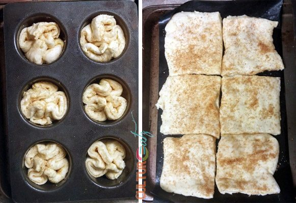 Kouign Amann shaped for baking