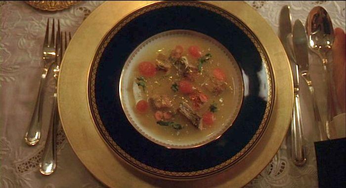 Russian ukha fish soup