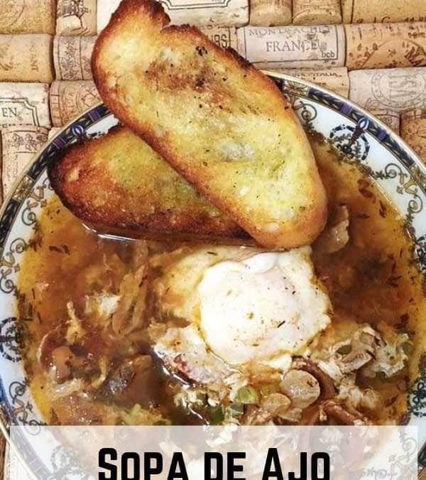 Sopa de Ajo, a Brilliant Rustic Spanish Garlic Soup with a Poached Egg