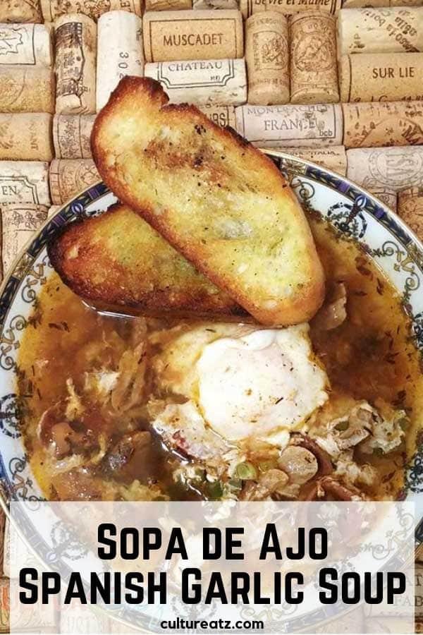 Sopa de Ajo Spanish Garlic Soup