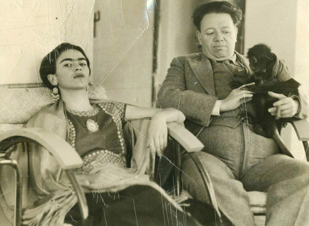 The real Frida with Diego
