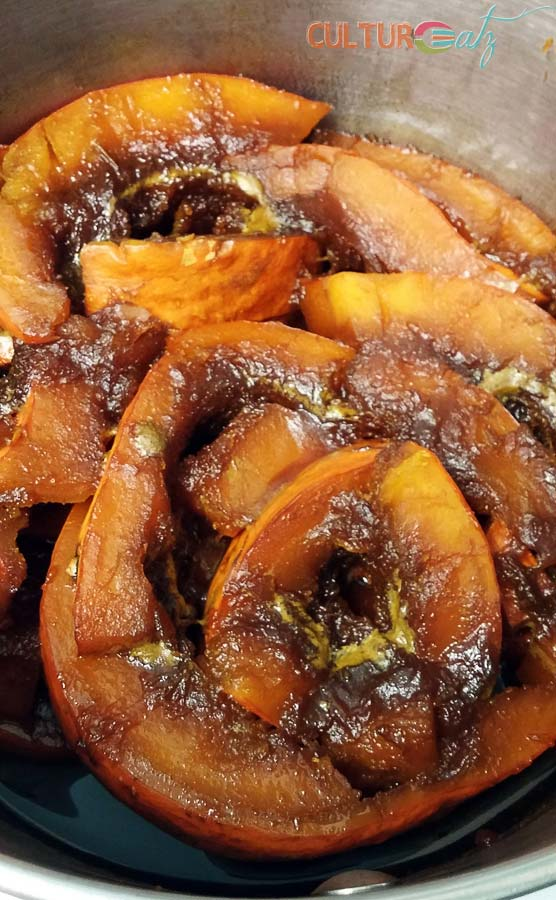 candied pumpkin cooked