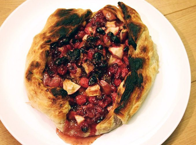 pie crust cranberry lime galette