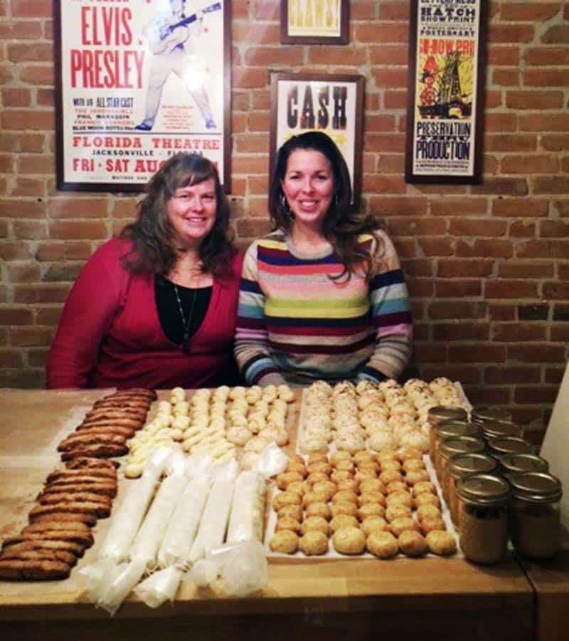 Holiday Cookies Evelyne and Catherine