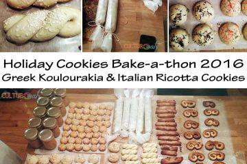 Holiday Cookies Koulourakia Italian Ricott 2016 bake-a-thon g