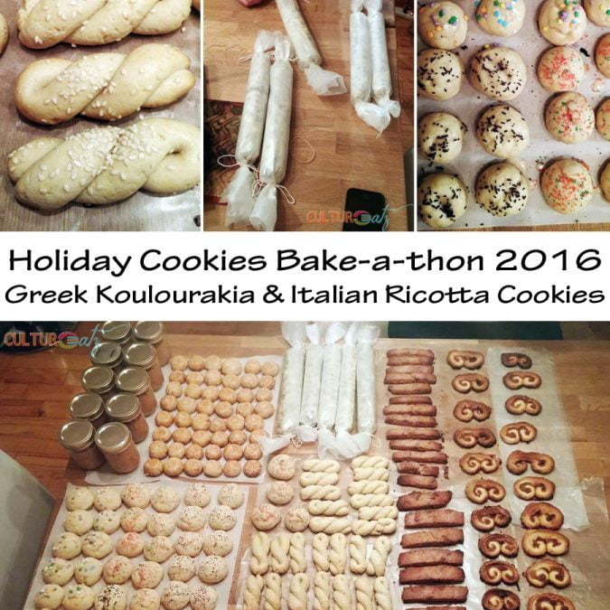 More Holiday Cookies! Koulourakia and Italian Ricotta
