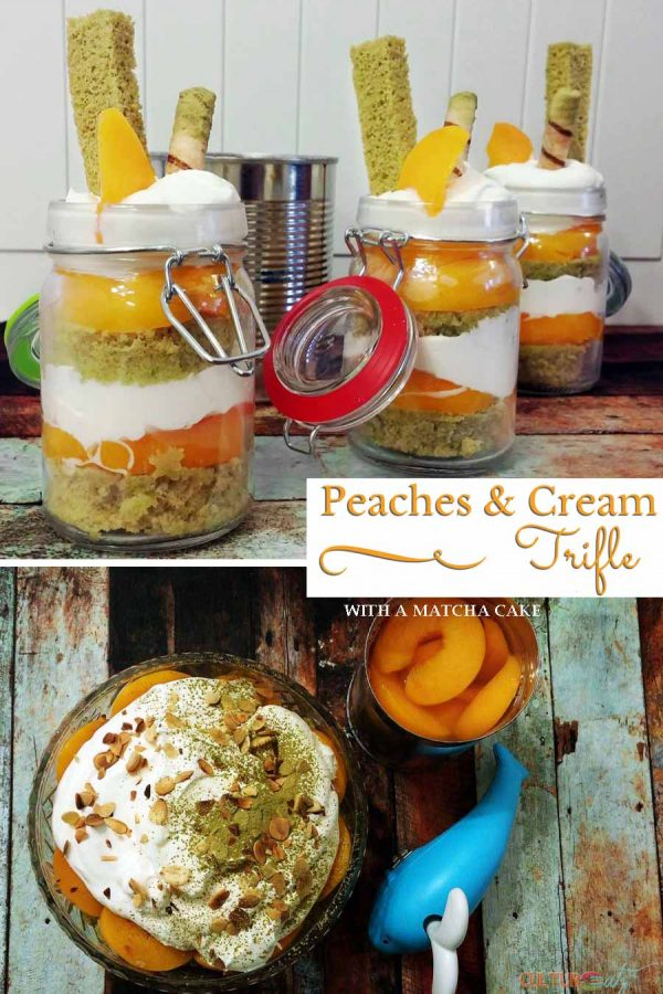 Peaches and Cream Trifle