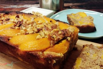 Peach Walnut Coffee Cake