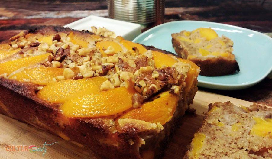 Peach Walnut Coffee Cake