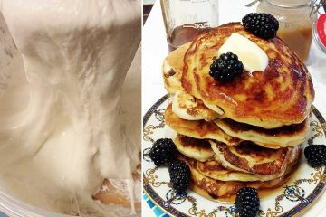 sourdough starter and pancakes