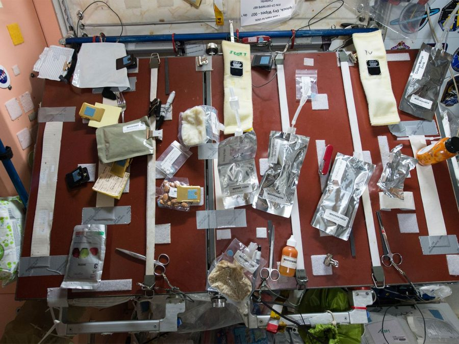 Mars ice cream food board in space