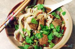 Spicy Beef soup pulled noodles