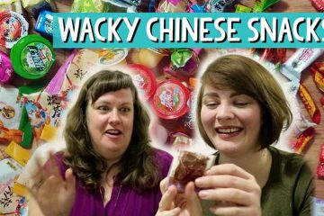 Tasting Chinese snacks food