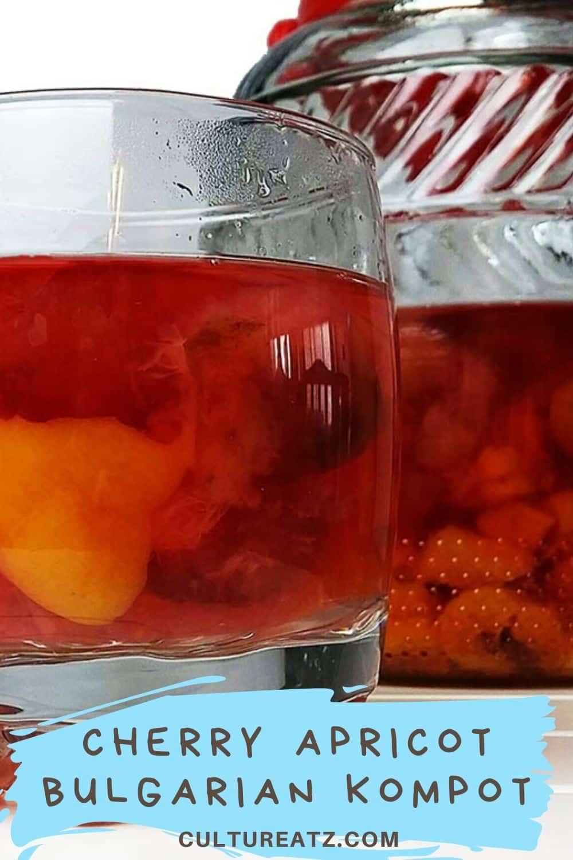 Balkan food Cherry Apricot Bulgarian Kompot