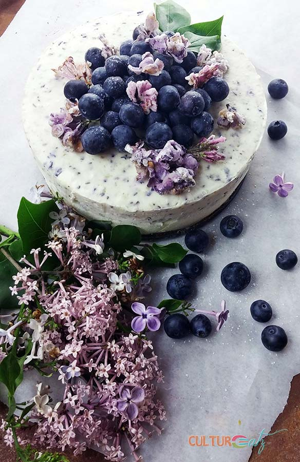 Lilac Blueberry Cheesecake