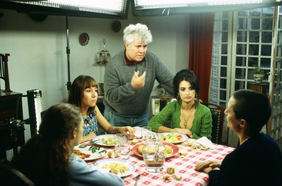 Almodovar on the set of Volver