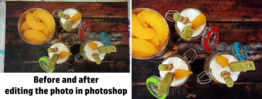 food photo edit before and after