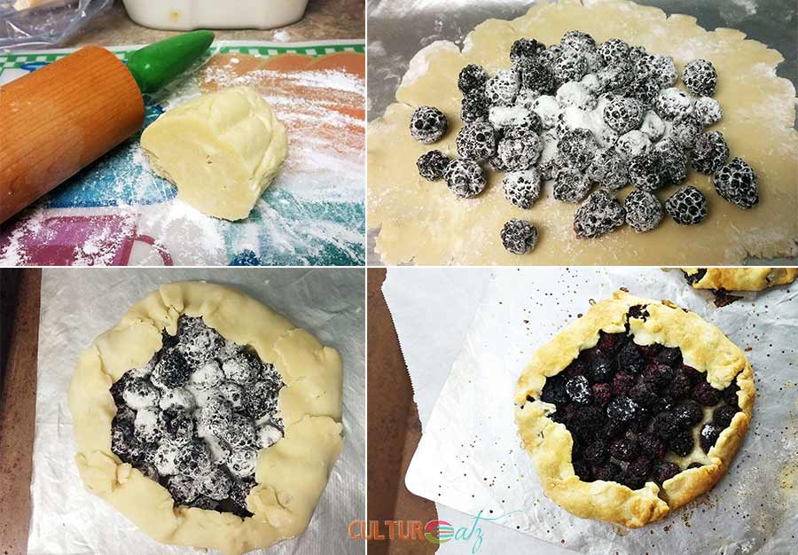 Blackberry Galette with Red Wine Sauce