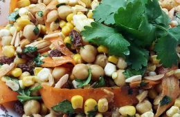 Moroccan Corn Chickpea Salad pin