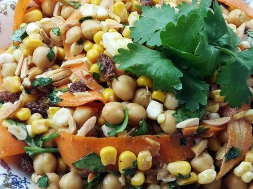 Moroccan Corn Chickpea Salad pin