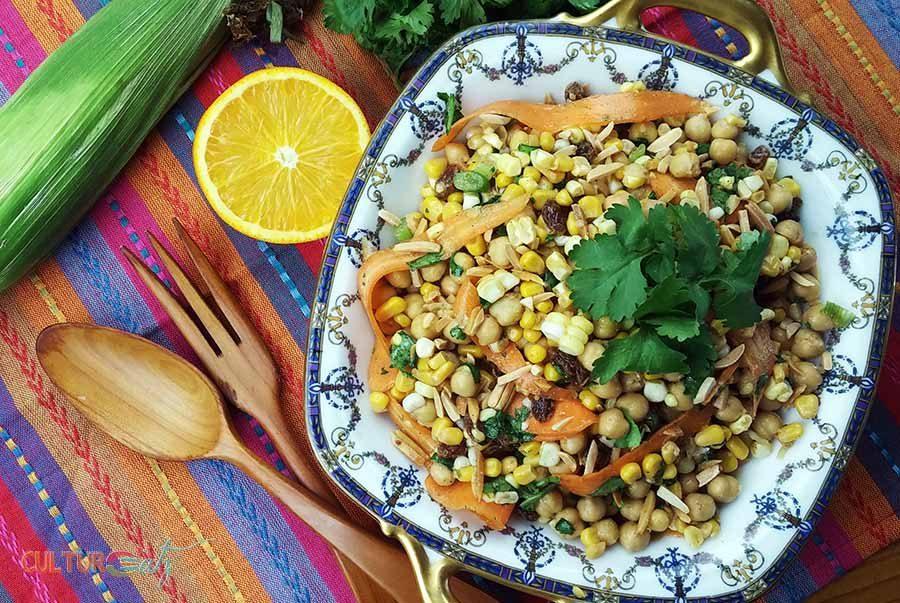 Moroccan Corn Chickpea Salad