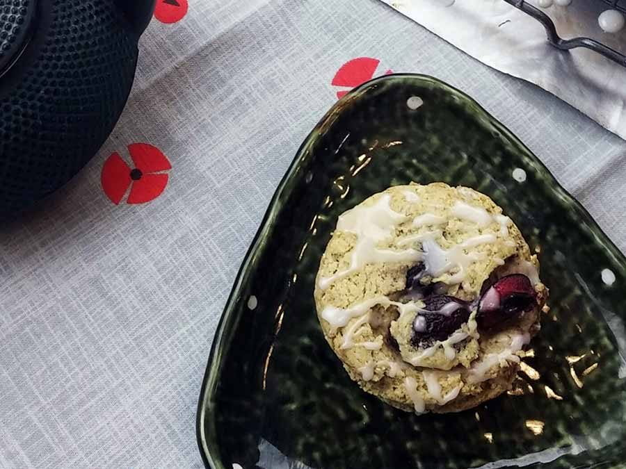 Glazed Cherry Matcha Scones: the Perfect Afternoon Treat