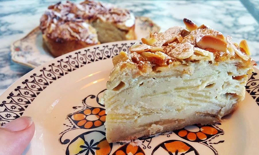 Invisible Apple Cake slice