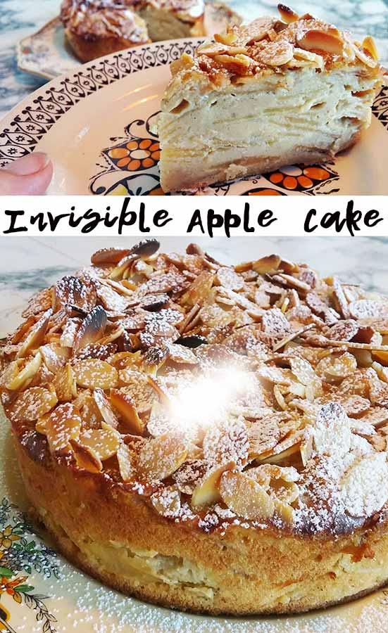 Invisible Apple Cake