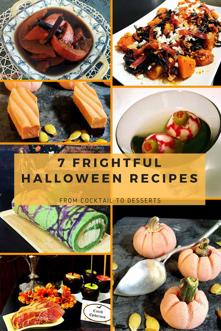 7 FRIGHTFUL HALLOWEEN RECIPES FROM COCKTAIL TO DESSERTS