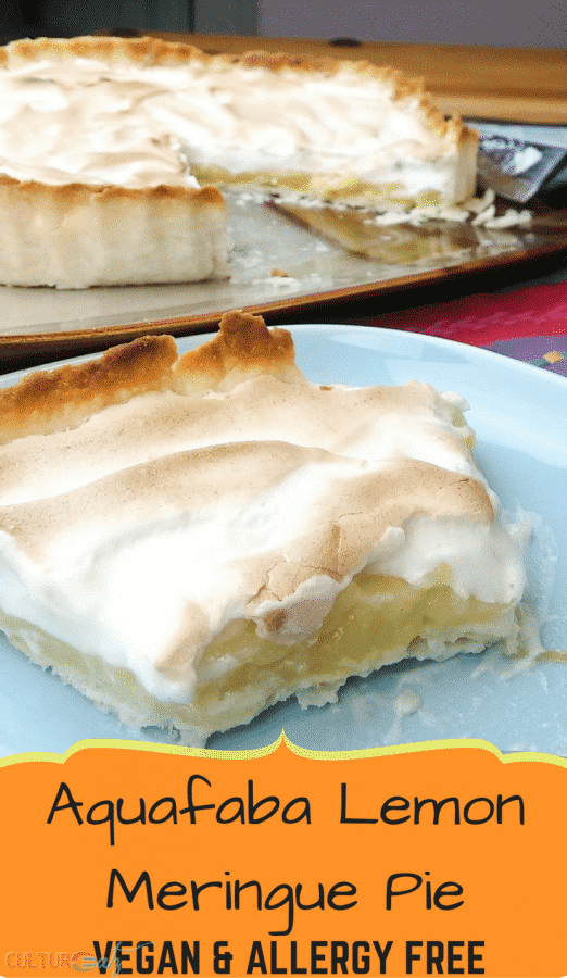 Aquafaba Lemon Meringue Pie