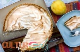 Aquafaba Lemon Meringue Pie top