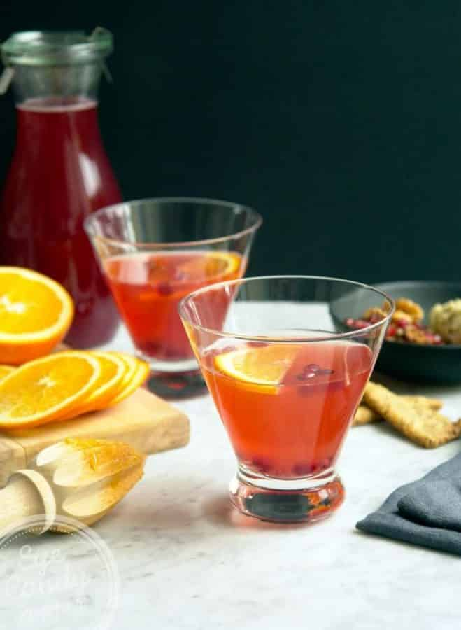 AMARETTO CRANBERRY SHRUB COCKTAIL Festive Cocktails