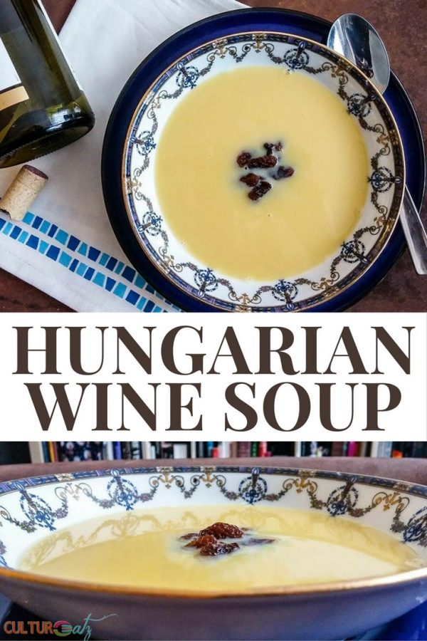Hungarian Christmas Wine Soup